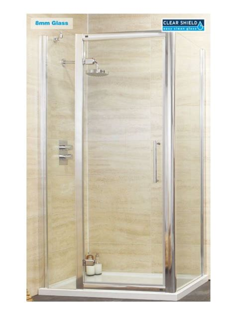 rival 8mm 1000 hinge shower door with single infill panel