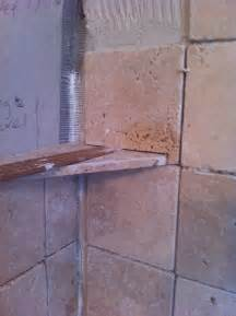 how to make a corner shower shelf using tile a can
