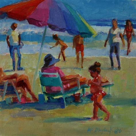 people painting daily paintings by elizabeth blaylock american