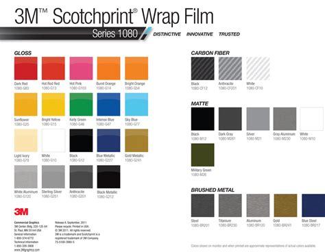 3m wrap colors 3m vinyl wrap color chart avery car wrap in miami colors