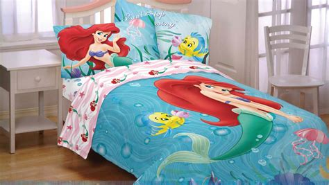 mermaid twin bedding fun disney princess room decor ideas