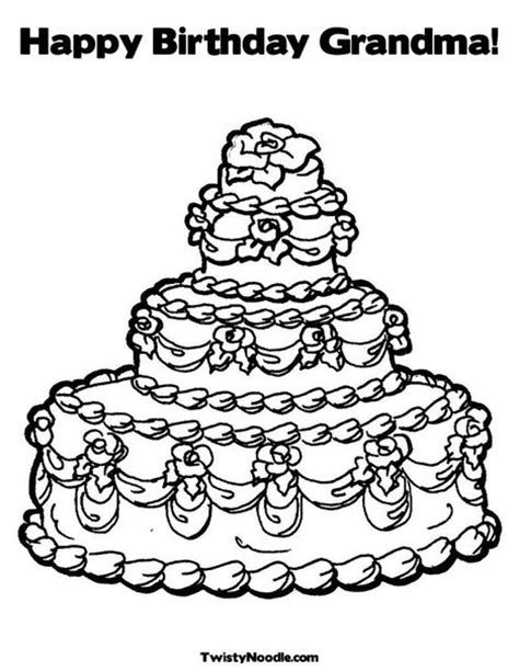 happy birthday granny coloring pages happy birthday grandma coloring pages getcoloringpages com
