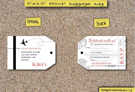 luggage tag invitation template custom destination boarding pass wedding invitations from