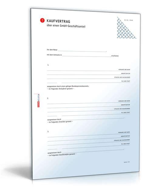 Kaufvertrag Auto 0 Euro by Kaufvertrag Gmbh Gesch 228 Ftsanteil Muster Zum Download