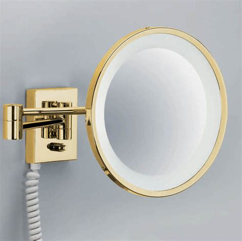 smile 704 gold magnifying mirror contemporary bathroom