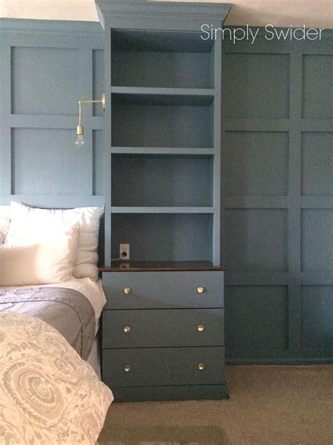 master bedroom built ins  benjamin moore blue echo
