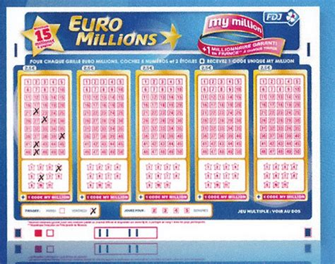 prix de la grille euromillion fdj my million l atout suppl 233 mentaire de l euromillions