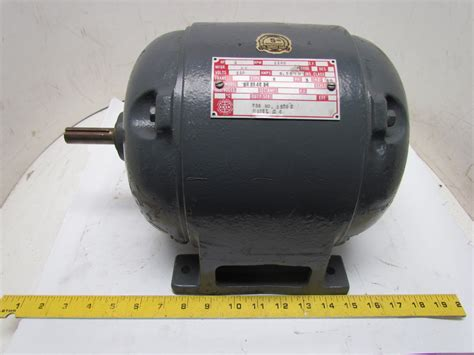 Vintage Electric Motor by Ge 5k204e36 3 Phase 1hp 110v Vintage Electric Motor 1140