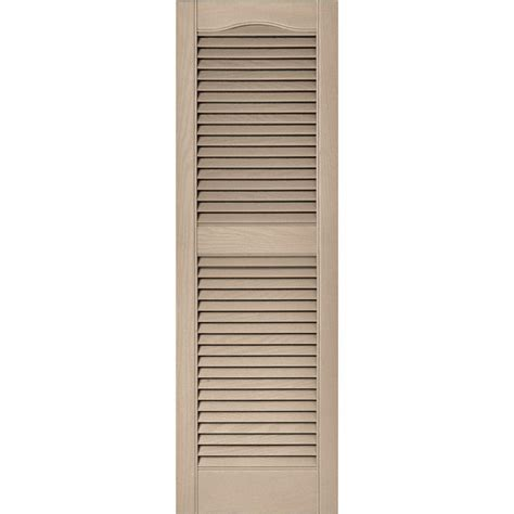 builders edge 15 in x 52 in louvered vinyl exterior
