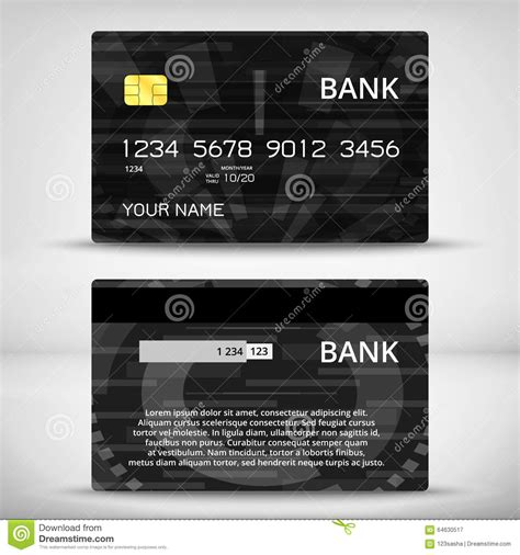 Credit Card Design Template Vector Templates Of Credit Cards Design Stock Vector Image 64630517