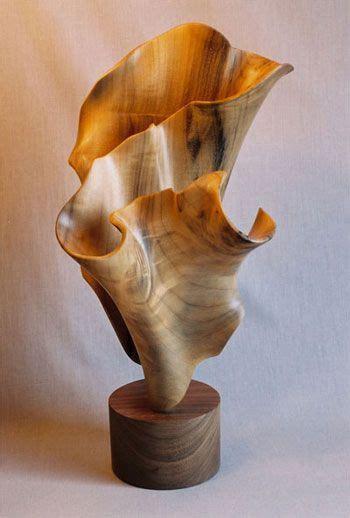 wood oceana inspired freestanding sculpture  john