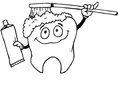 Tooth Coloring Pages Printable free coloring pages of teeth
