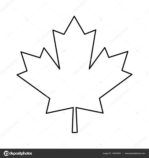 Canada Maple Leaf Outline by Maple Leaf Green Sign Canadian Outline Stock Vector 169 Jemastock 133633554