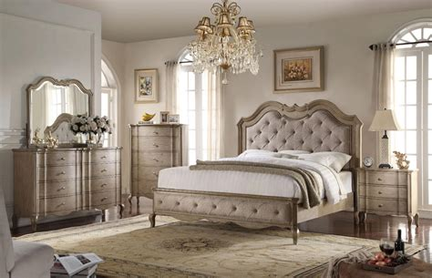 beige bedroom furniture acme chelmsford 26047ek antique taupe beige king bedroom