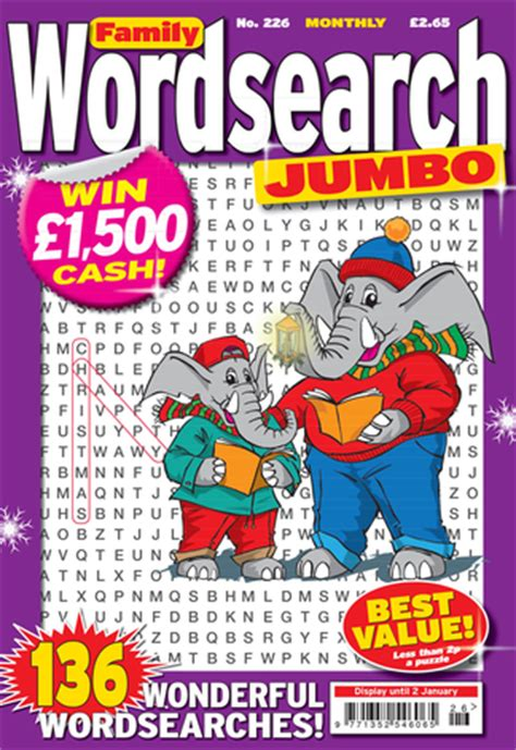 Magazine Word Search Family Wordsearch Jumbo Magazine Subscription