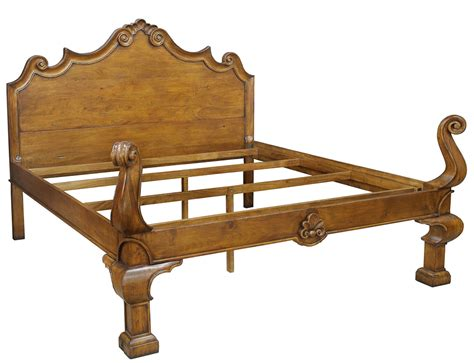 Bed Frame Free Shipping Provincial Solid Walnut King Size Bed Frame Carved New Free Shipping Ebay