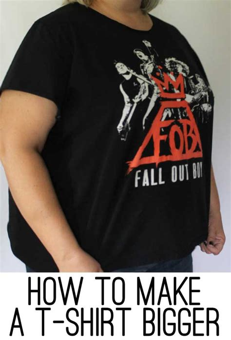 How To Make Tshirt how to make a t shirt bigger the easy way