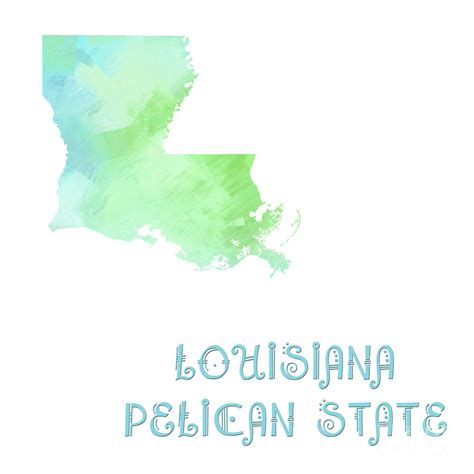 louisiana map decor louisiana pelican state map state phrase geology