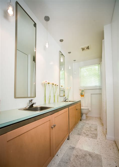 galley style bathroom galley style bathroom with his and her sinks