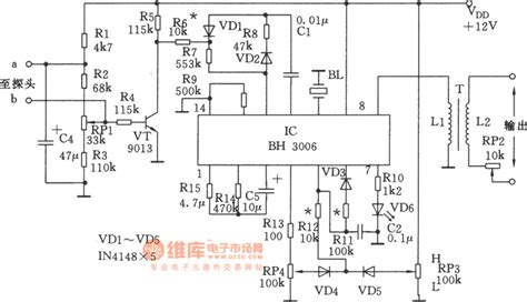 application of integrated circuit ic the bh3006 application circuit of the waveform generating integrated circuit automotive