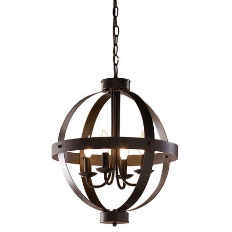 rustic light fixtures lowes shop allen roth 18 in antique rustic bronze rustic