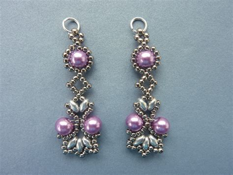 free patterns for beaded earrings free beading pattern for lotus lace earrings everything