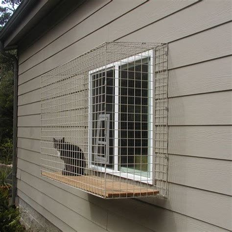 cat window box enclosure lots of ideas for outdoor cat enclosures cat paradise