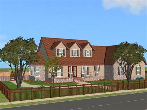 4 story house mod the sims pippenville 1 one story three bedroom
