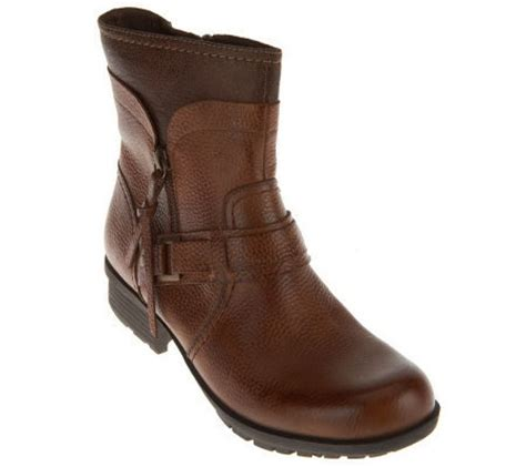 qvc ankle boots clarks bendables riddle avant leather ankle boots qvc
