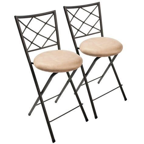 Bistro Stools by Jcp Home Folding Stool Set Bronze Cushion Seat Bar