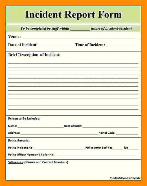 incident report form template doc employee incident reports our author has been published