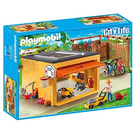 playmobil 9368 garage with bicycle parking exclusive set
