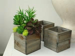 wood box wood boxes square wood vase succulents wedding flower