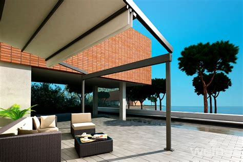 Retractable Motorized Awnings Weinor Pergotex Adjustable Folding Roof System Samson