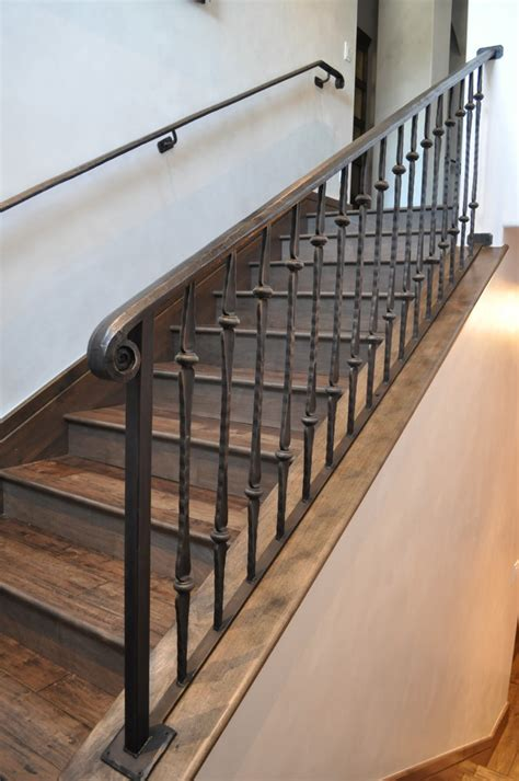 iron stair banister iron stair railing staircase traditional with