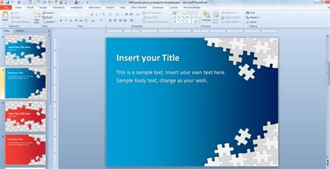 powerpoint layout herunterladen download free puzzle pieces powerpoint template for
