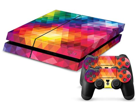ps4 color rainbow color ps4 sticker ps4 skin ps4 stickers 2pcs