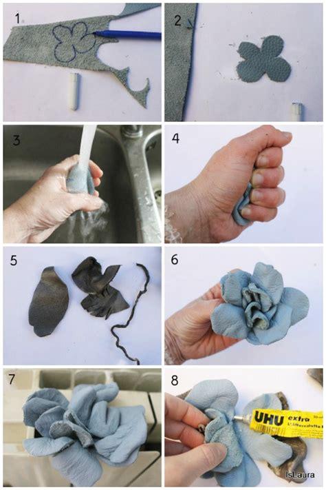 fiori di stoffa come si fanno come creare una spilla con fiori di stoffa e di pelle