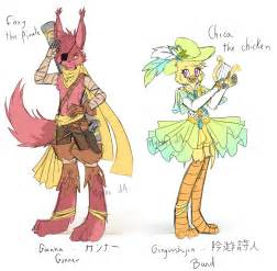Fnaf party x party foxy chica by myebi on deviantart