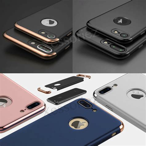 luxury ultra thin shockproof hybrid 360 cover for apple iphone 8 7 6s plus ebay