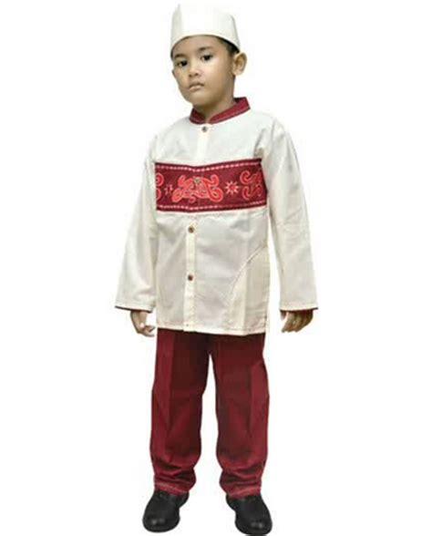 Baju Anak Laki Laki Setelan 4in1 Kotak Merah Dasi tren baju muslim anak laki laki dan perempuan awal tahun