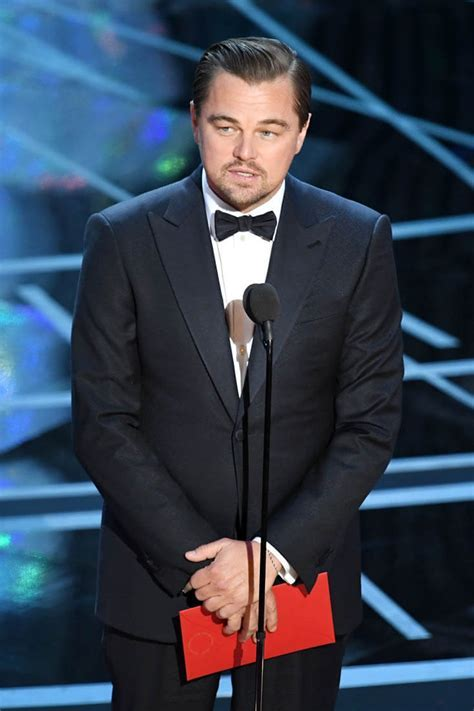 Leonardo DiCaprio presents as past Best Actor at 2017 Oscars