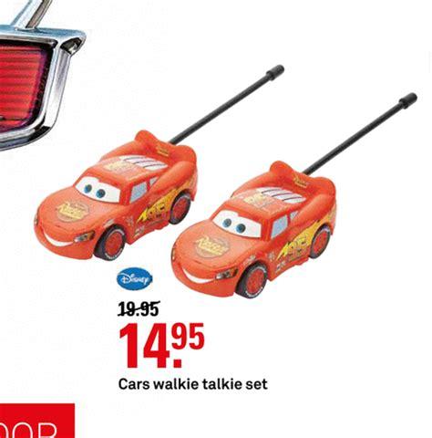 Walki Talkie Cars vind actuele folder aanbiedingen vergelijkbaar met de verlopen disney car walkie talkie folder