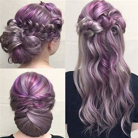 purple shoo for purple highlights purple hair color ideas hair world magazine