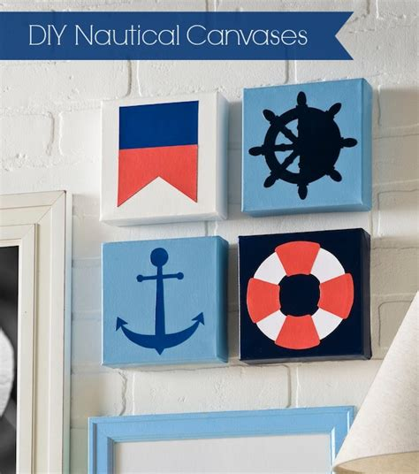 nautical craft projects diy nautical inspired canvases mod podge rocks