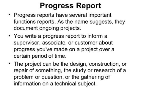 progress report email sle how to write progress report sle 28 images progress