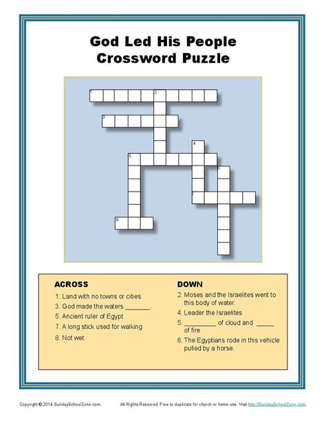 your cross the puzzle of god volume 1 books god led his through the sea crossword puzzle