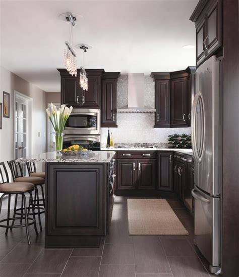 Chocolate Color Kitchen Cabinets by Kitchen Surprising Brown Kitchen Cabinets With White