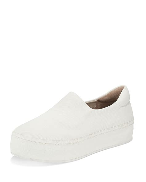 opening ceremony stretch canvas platform sneakers in white