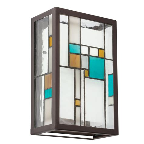 two light wall sconce stained glass fixtures